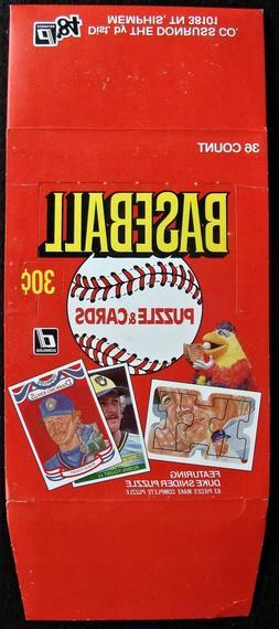 1984 donruss baseball wax packs empty display