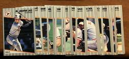 1989 fleer pick your complete team set