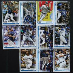 2019 Topps Series 2 Milwaukee Brewers Team Set Of 11 Basebal
