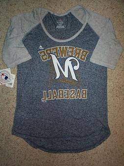 Milwaukee Brewers mlb Jersey Shirt Adult WOMEN'S/WOMENS/LAD
