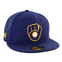 New Era 5950 Milwaukee Brewers ALT 2 Fitted Hat  MLB Cap