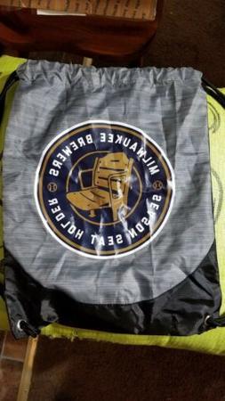 Milwaukee Brewers Season Seat Holder Drawstring Backpack Bag