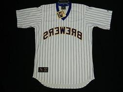 Authentic Milwaukee Brewers 1980s Pinstripe Throwback TBC Je