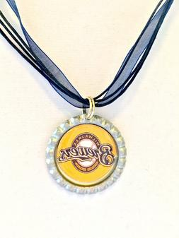 BASEBALL FANS!!  Milwaukee BREWERS Baseball Necklace