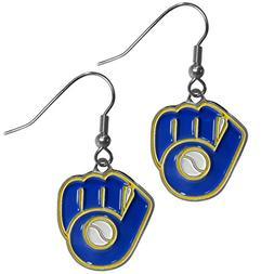 Siskiyou BDE035 MLB Dangle Earrings - Milwaukee Brewers