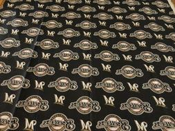 Cotton Fabric Sports   MLB  Milwaukee Brewers Logo 59 inches