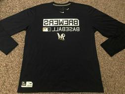 Nike Dri Fit Milwaukee Brewers Team Issue Training shirt MLB