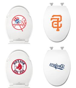 FC372 MLB LOGO TEAM THEME WHITE ELONGATED MOLDED WOOD OVAL T