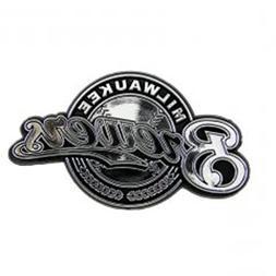 Football Fanatics Milwaukee Brewers Silver Auto Emblem