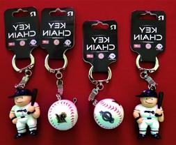 FOUR  MILWAUKEE BREWERS PLASTIC, BASEBALL KEY CHAINS FROM RI
