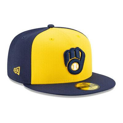 59fifty milwaukee brewers alt fitted hat navy