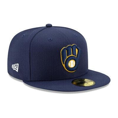59fifty milwaukee brewers home fitted hat navy