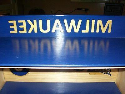 Milwaukee Brewers Bobble Display M, Name Pinewood