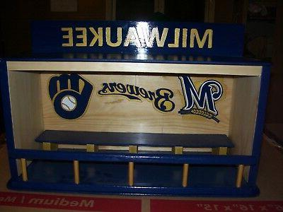 milwaukee brewers bobble head display case as