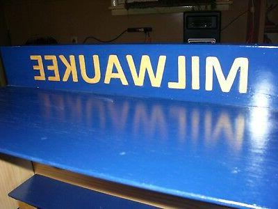 Milwaukee Brewers Display Case M, Pinewood