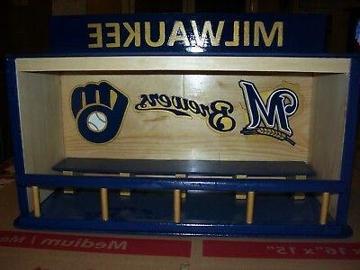 bobble heads display case milwaukee brewers