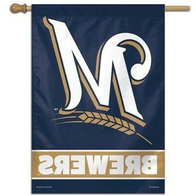 milwaukee brewers 1 official mlb 28x40 outdoor