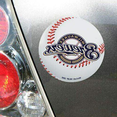 milwaukee brewers 5 logo die cut car