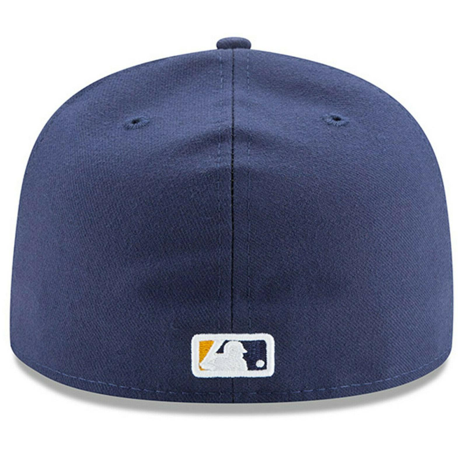 Milwaukee Brewers New Era Alternate Authentic On-Field Fitted Hat -