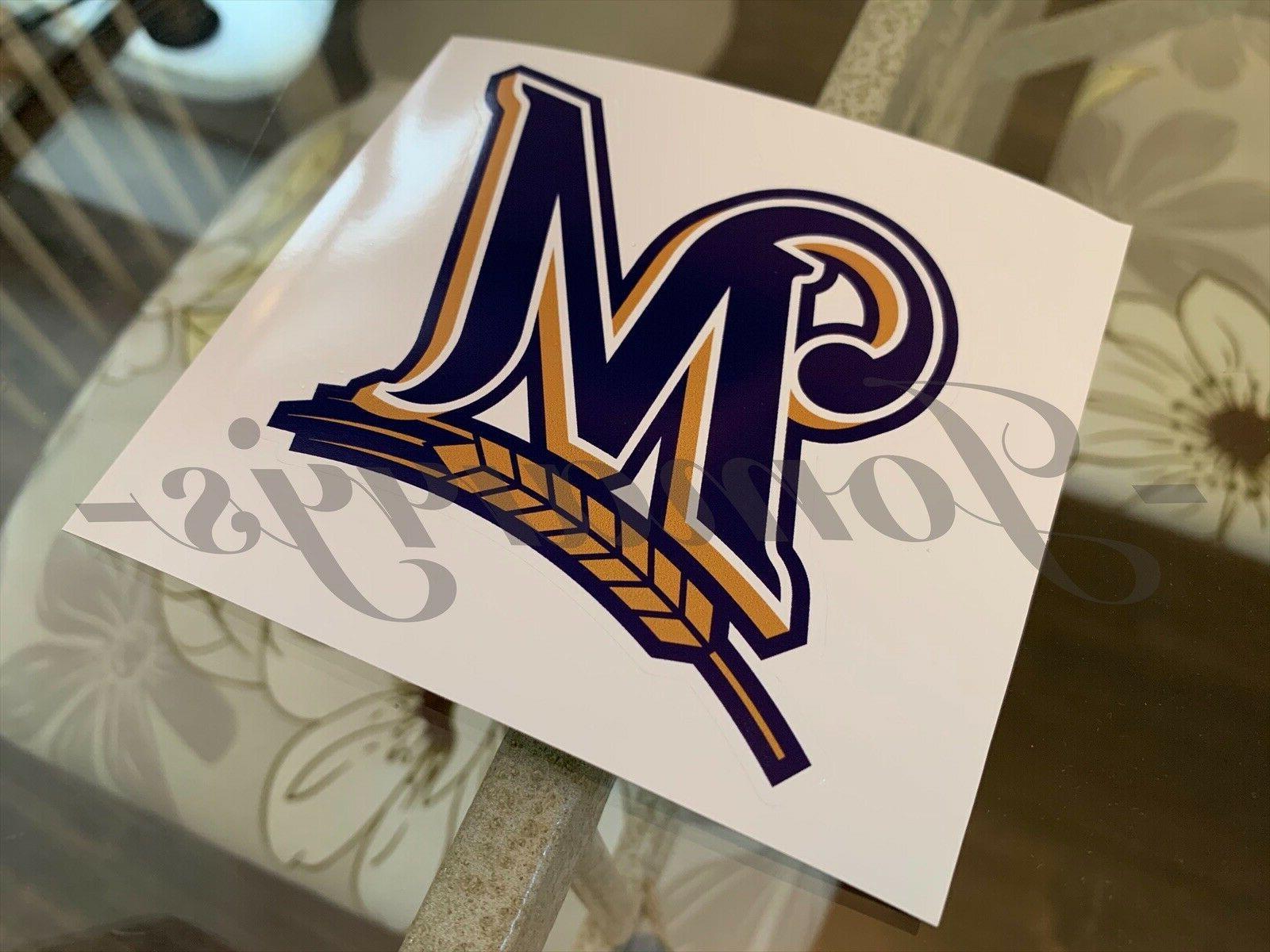 Milwaukee Team Logo Vinyl #Brewers