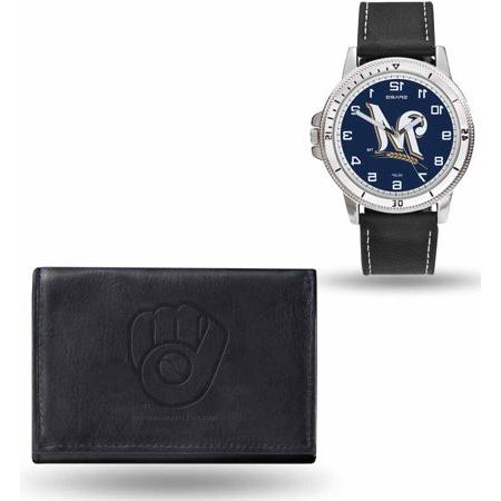 milwaukee brewers black watch wallet