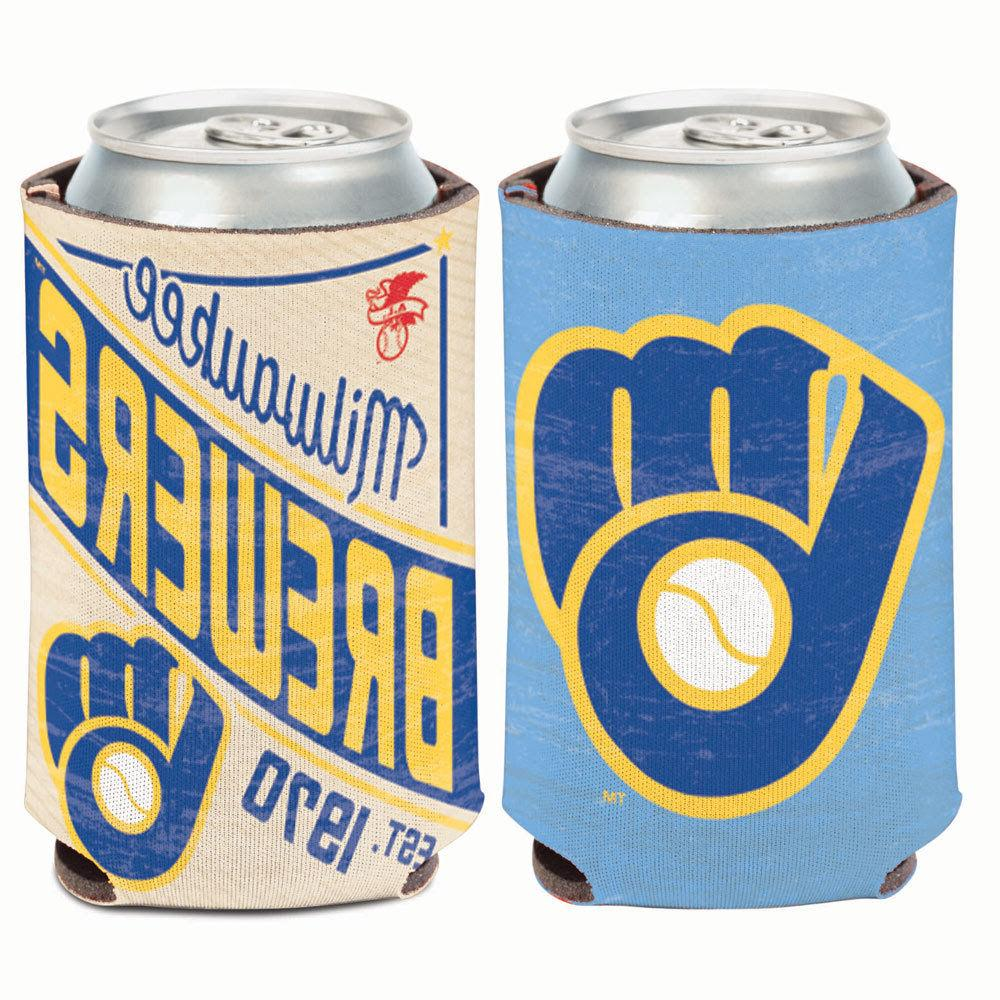 milwaukee brewers cooperstown can cooler 12 oz