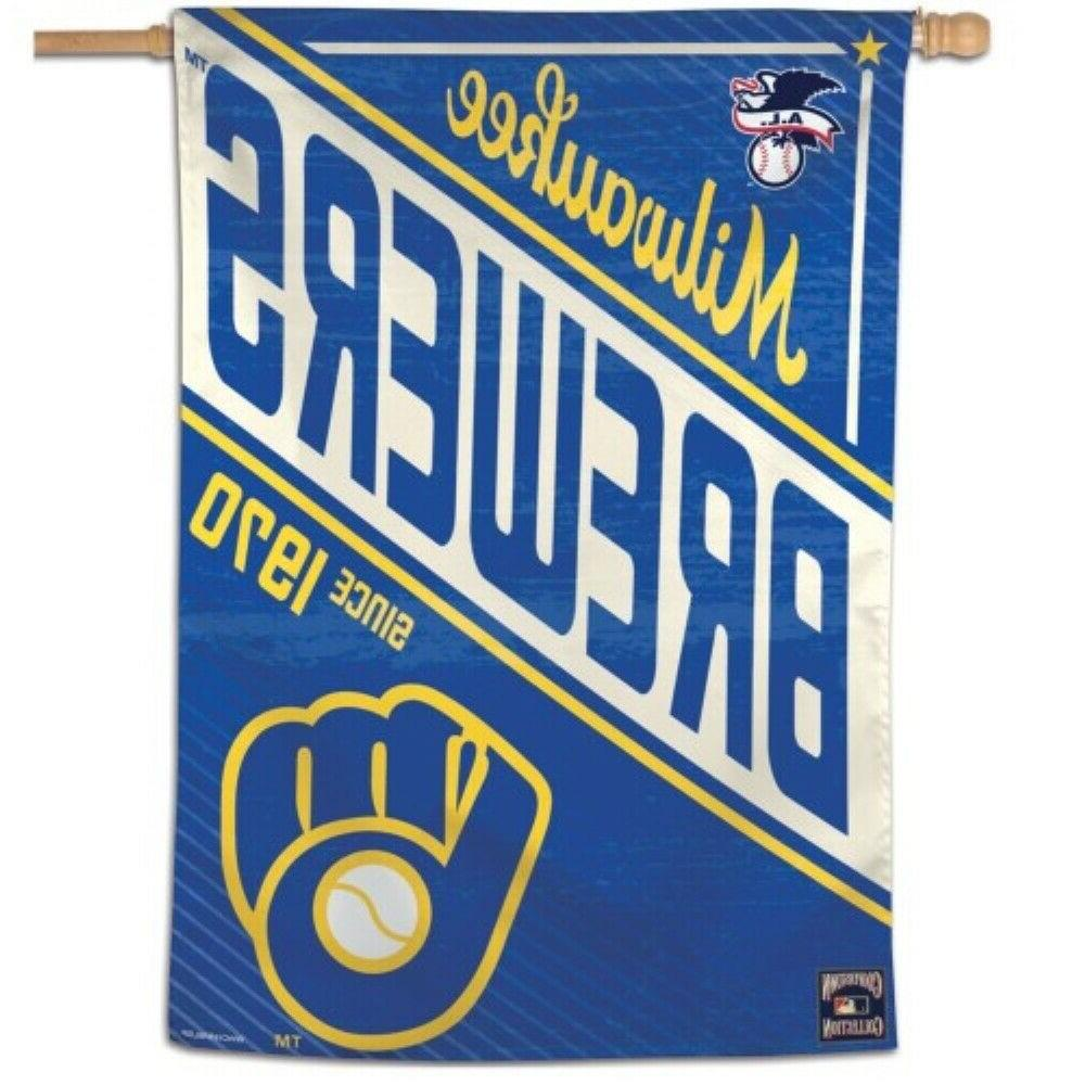 milwaukee brewers cooperstown collection 28 x40 banner