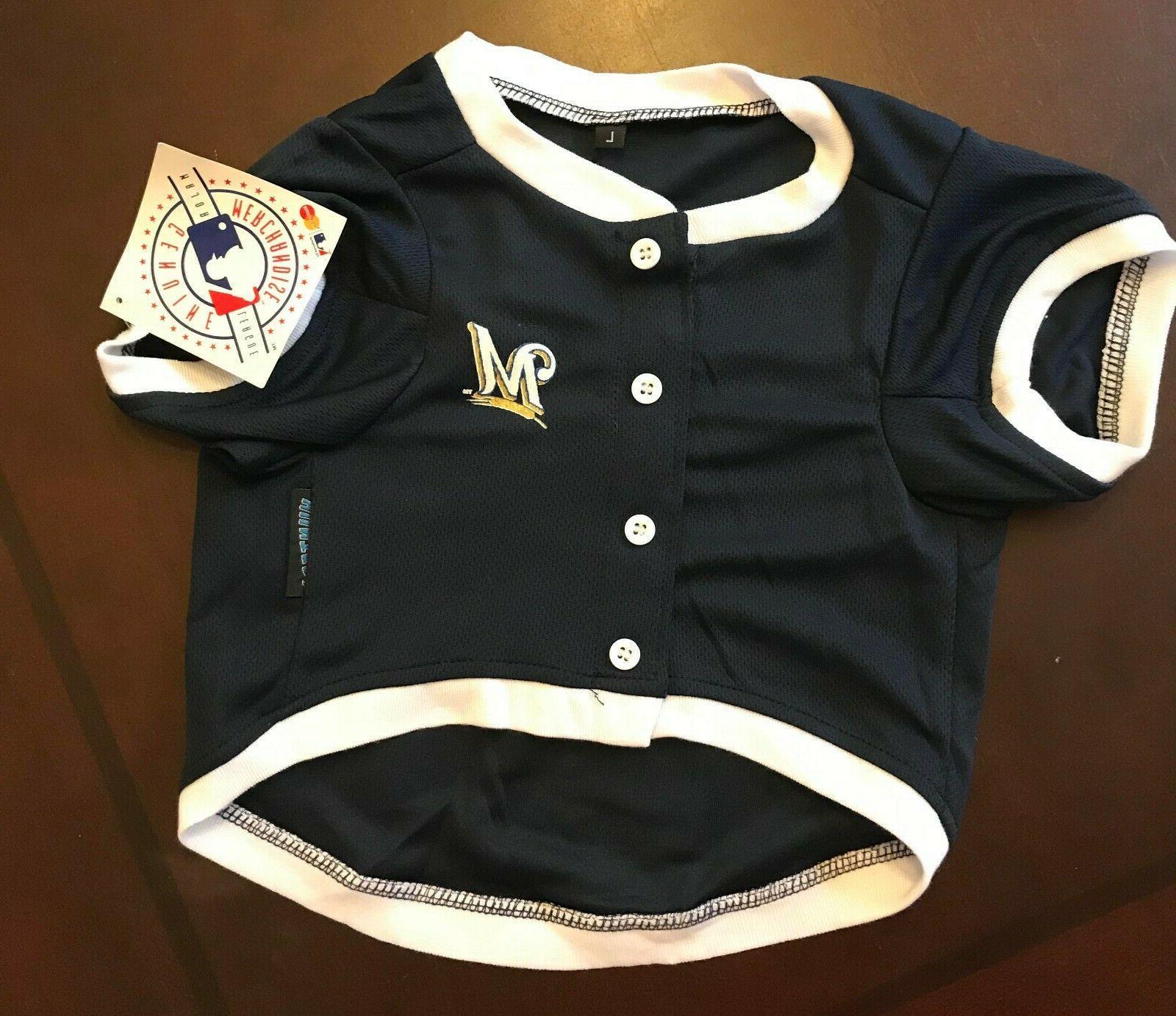 Milwaukee Brewers MLB Baseball Pet Shirt
