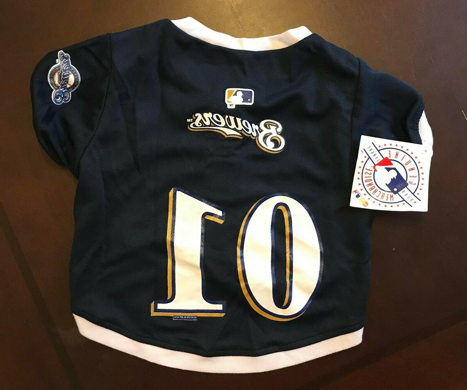 milwaukee brewers dog jersey baseball pet shirt