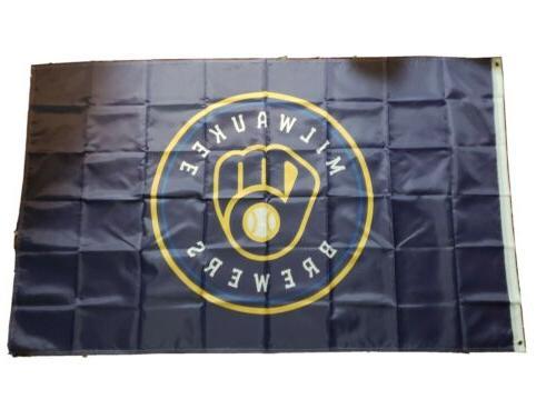 milwaukee brewers flag banner mlb 3x5 feet