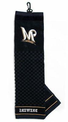 "Milwaukee Brewers Golf Bag Embroidered Towel  - Tri-Fold 16"""