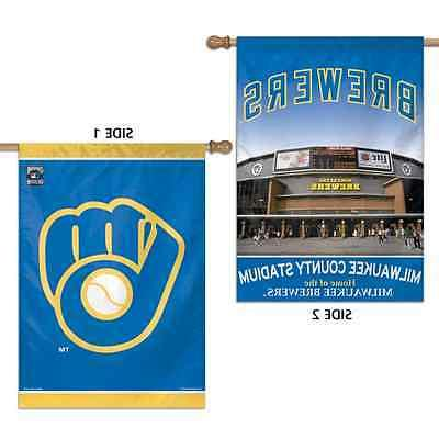 milwaukee brewers milwaukee county stadium 28 x40