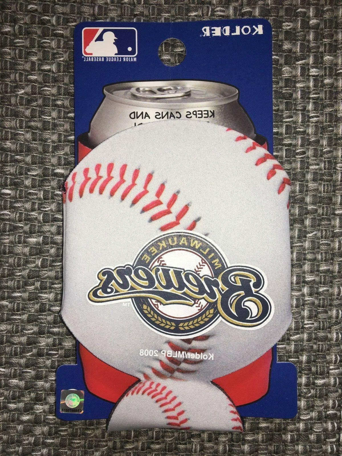milwaukee brewers mlb baseball can cooler collapsible