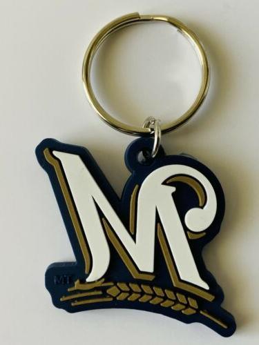 milwaukee brewers mlb baseball keychain keyring team