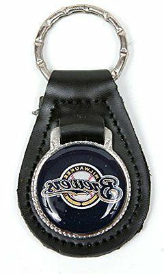 Milwaukee Brewers MLB Keychain & Keyring - Leather