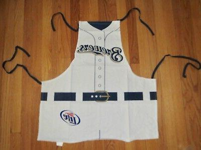 milwaukee brewers mlb tailgate grilling apron jersey