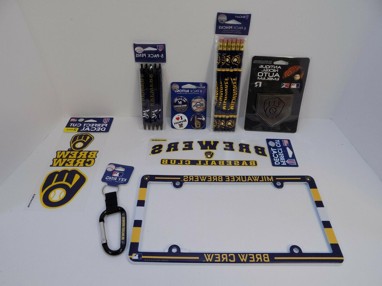 milwaukee brewers opening day fan bundle decals