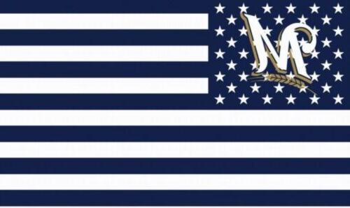 milwaukee brewers stars stripes flag banner 3