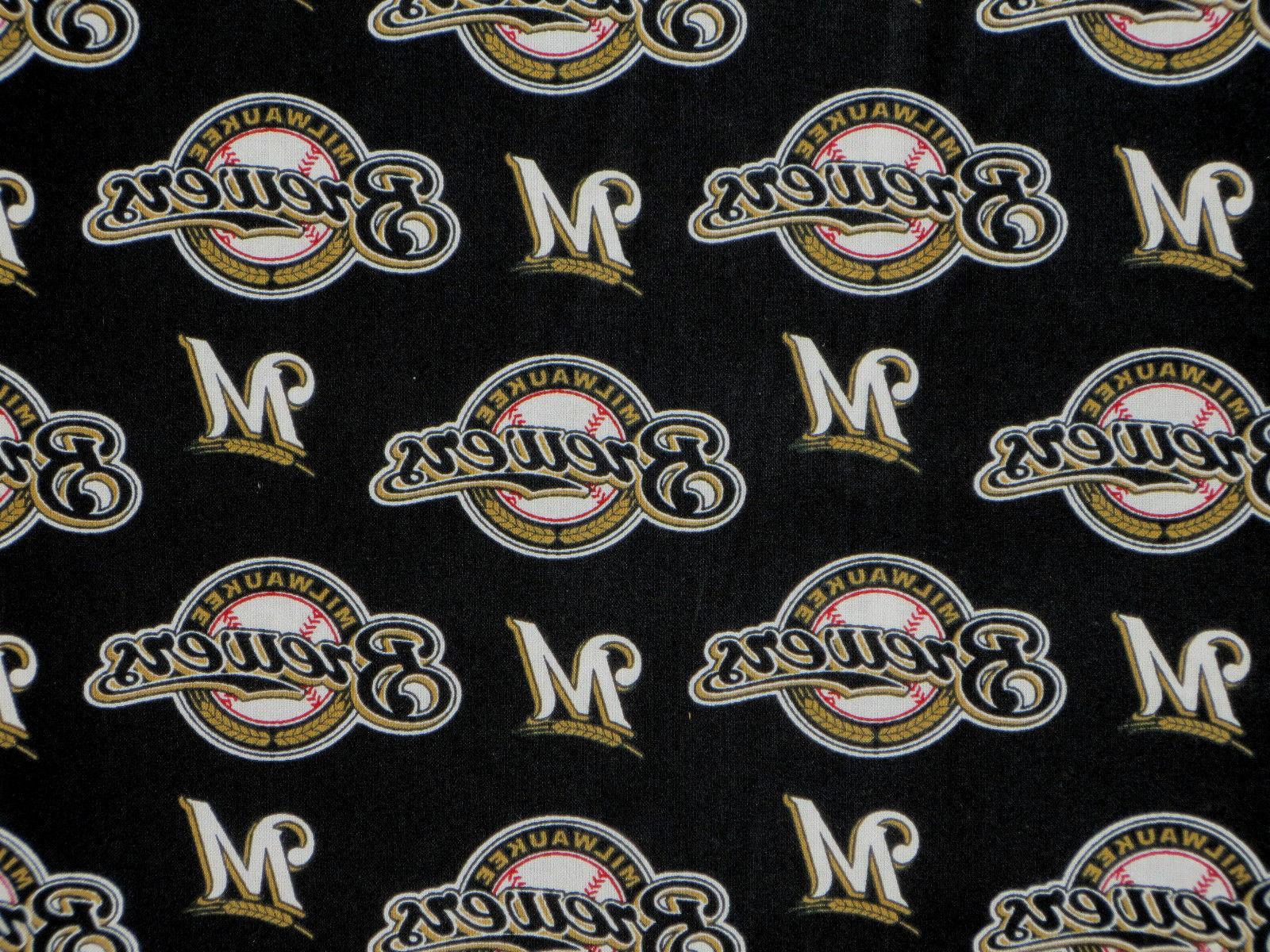 "MLB Baseball Milwaukee Handmade Window Curtain 56"" W x L"