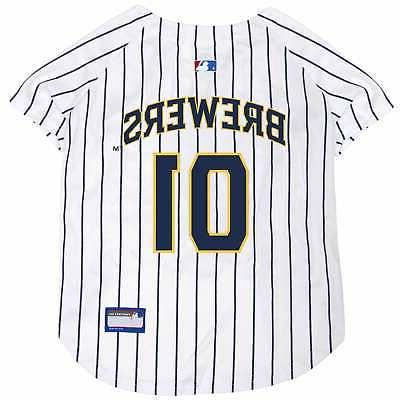 mlb milwaukee brewers jersey for dogs