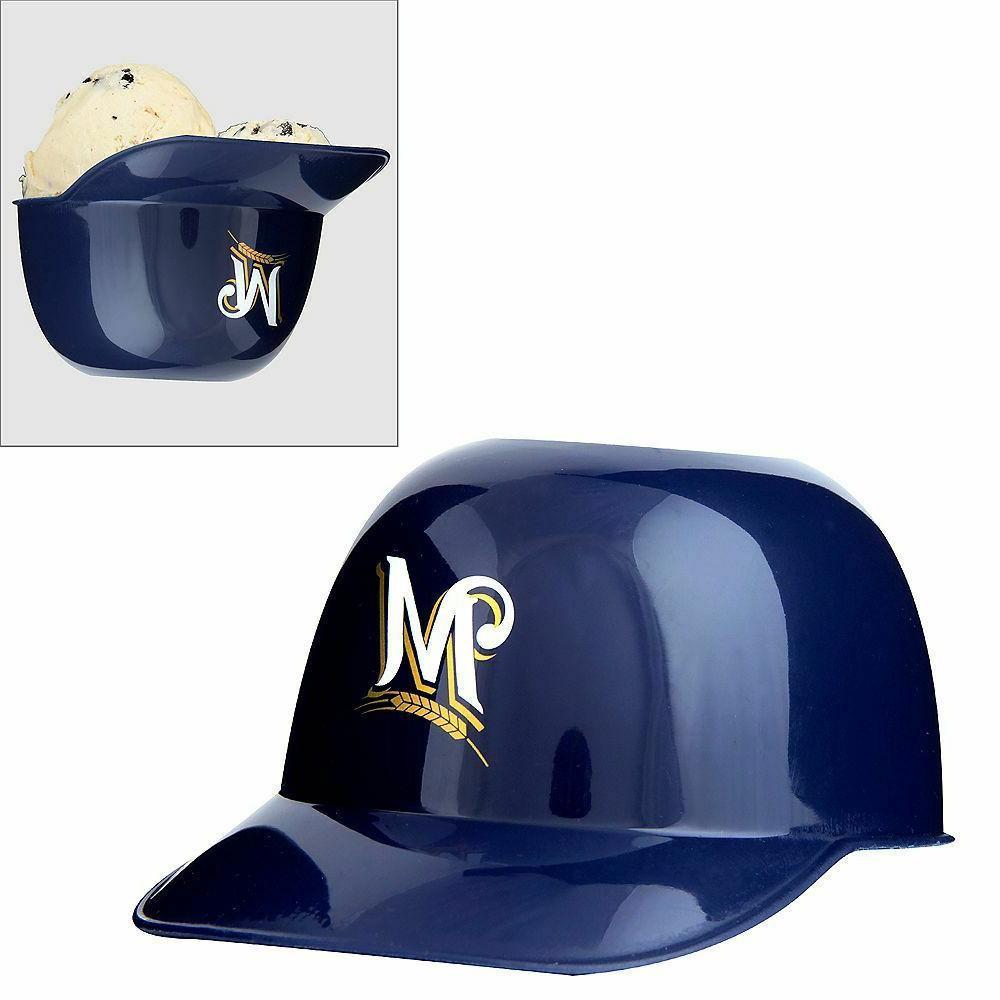 mlb milwaukee brewers mini batting helmet ice