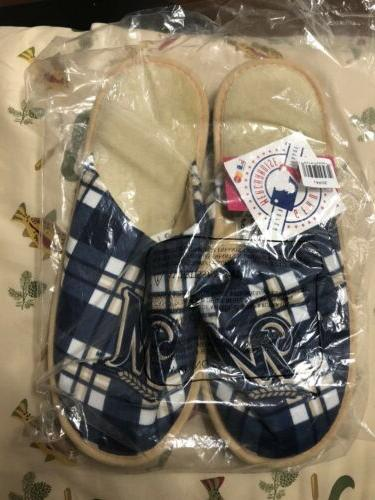 new milwaukee brewers slippers adult size 11