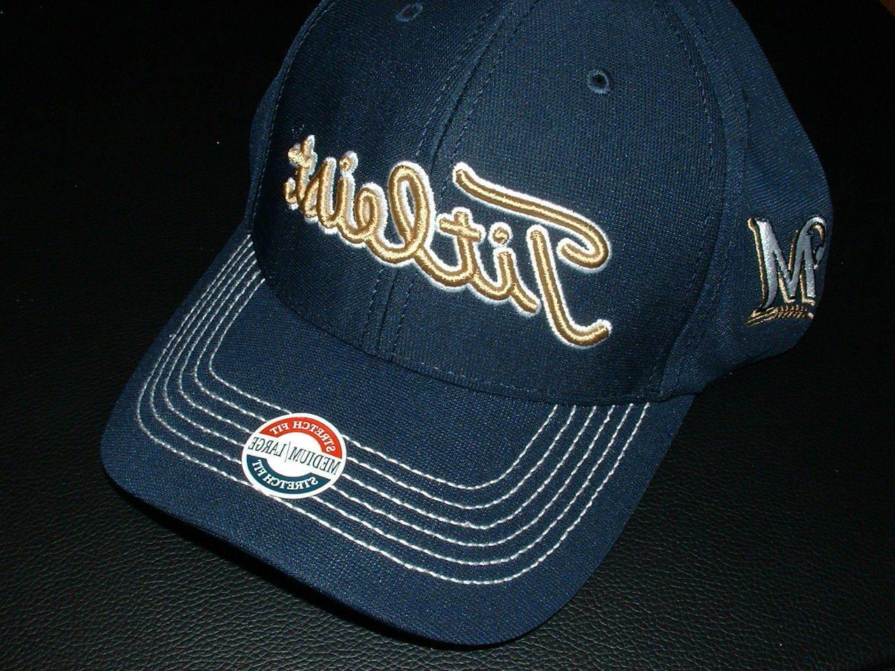 titleist milwaukee brewers golf cap fitted style