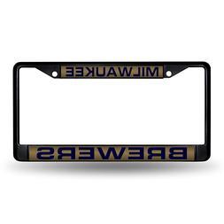 Laser-Engraved Black License Plate with Gold Insert - Milwau