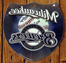 Licensed MLB Plastic Milwaukee Brewers Interstate Sign Wall
