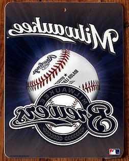 Licensed MLB Sign Milwaukee Brewers Wall Decor