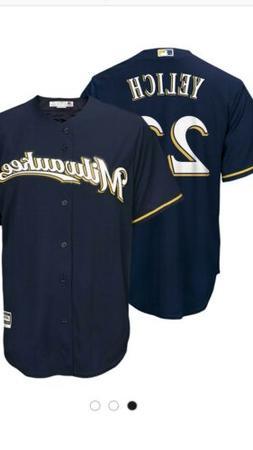 Men's Milwaukee Brewers Christian Yelich Blue Medium Jersey