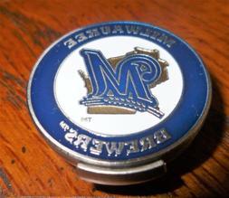 "Milwaukee Brewers 1"" MLB Licensed Golf Ball Marker 2 Sided B"