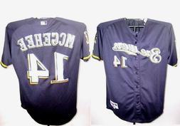 Milwaukee Brewers # 14 team McGehee Jersey shirt baseball to
