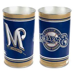 "MILWAUKEE BREWERS 15""X10.5"" TRASH CAN WASTEBASKET BRAND NEW"